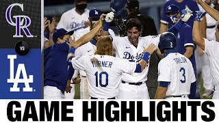 Cody Bellinger crushes walk-off home run | Rockies-Dodgers Game Highlights 8/22/20