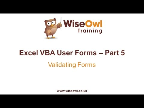 Excel VBA Forms Part 5 - Validating Forms