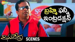 Brahmanandam FUNNY Introduction | Raghavendra Movie Scenes | Prabhas | Anshu | Shweta | Brahmanandam