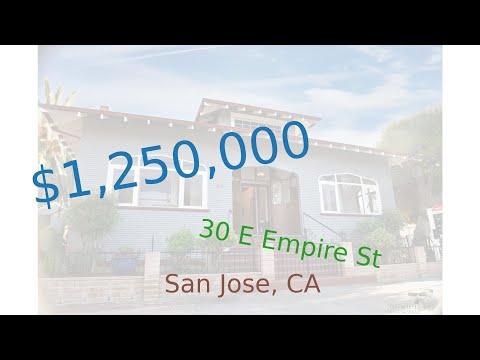 $1,250,000 San Jose home for sale on 2020-11-17 (30 E Empire St, CA, 95112)