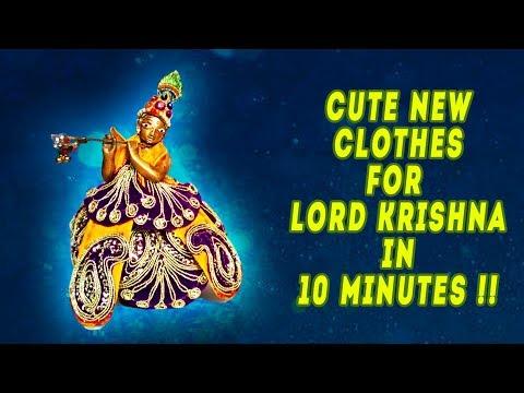 krishna clothes making in 10 minutes   Poshaak making for Kanha ji   janmashtami craft