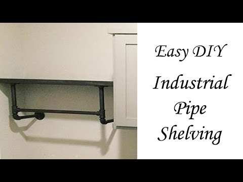 CHeap and Easy DIY Wood and Iron Shelf