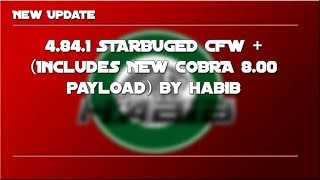 PS3 New update CFW 4.84.3 STARBUGED (w/ COBRA 8.01)