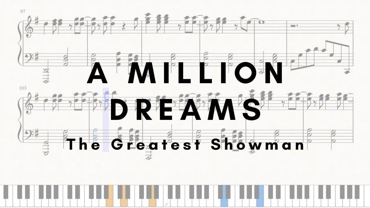 A Million Dreams - Piano (SHEETS)