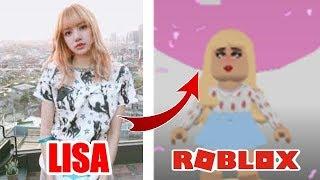 LISA BLACKPINK VS ROBLOX (Imimatierung von Prominenten) santi auf