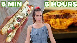 5 Min Vs. 50 Min. Vs. 5 Hour Vegan Grilled Cheese