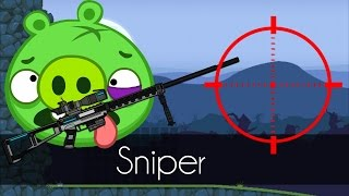 Bad Piggies - SNIPER! (Field of Dreams) - Piggy