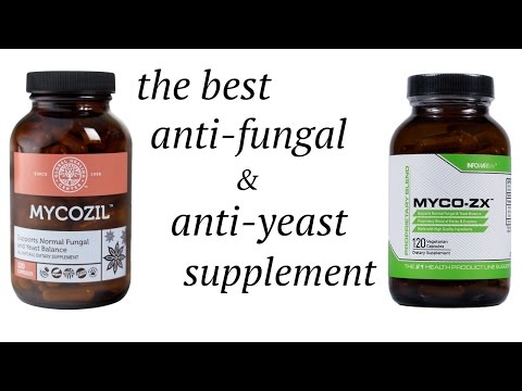 Best supplement for yeast infection, toenail fungus & athlete's foot: Myco-ZX & Mycozil