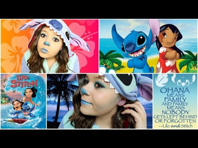Stitch Halloween Costume Makeup Diy Ohana Sign Youtube
