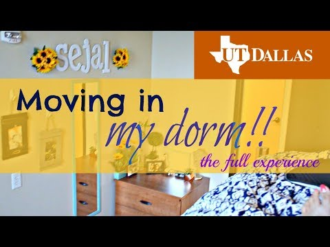 Moving in my dorm as a UTD Freshman!