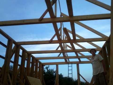 Смотреть каркасный дом от фундамента до крыши
