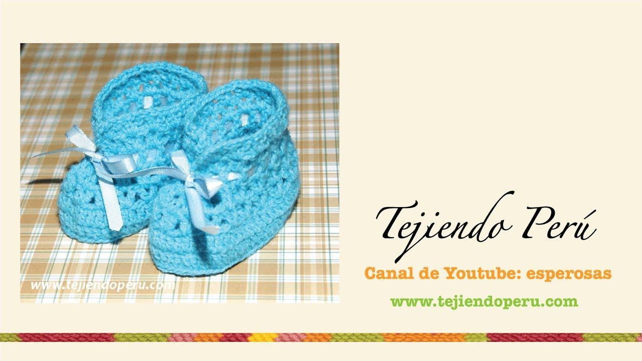 Único Zapatitos De Bebé Recién Nacido Patrón De Crochet Libre ...