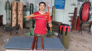 Đoản côn gỗ căm xe|gậy ngắn| võ gậy tự vệ