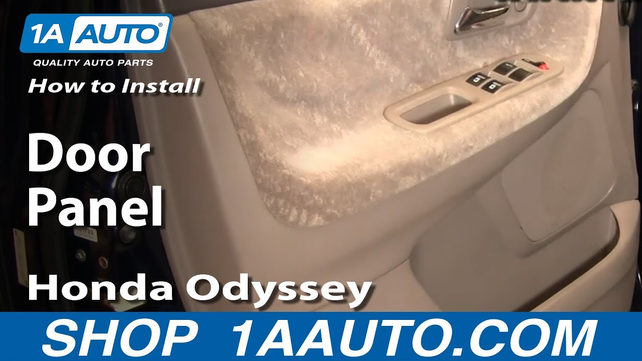 How To Remove Door Panel 99 04 Honda Odyssey Youtube