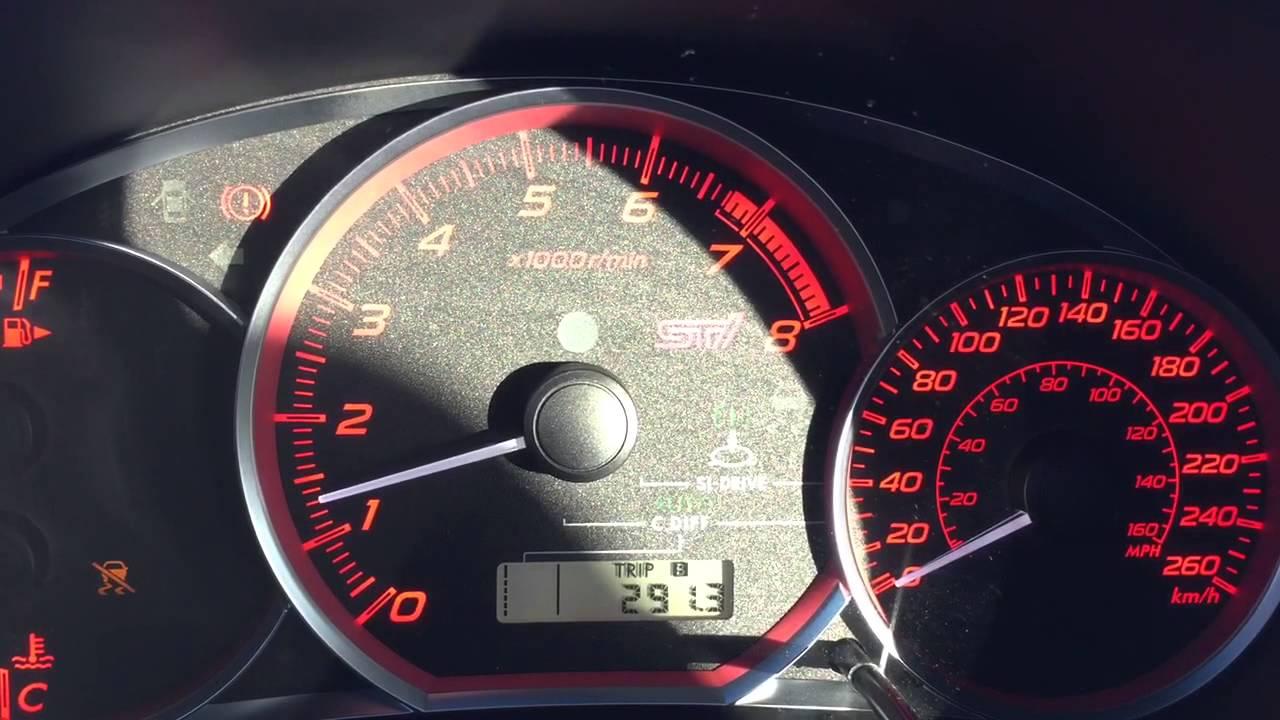 Subaru impreza check engine light flashing cruise control traction control