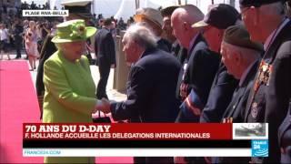 70 ans du D-Day : l'arrivée de la Reine d'Angleterre Elizabeth II