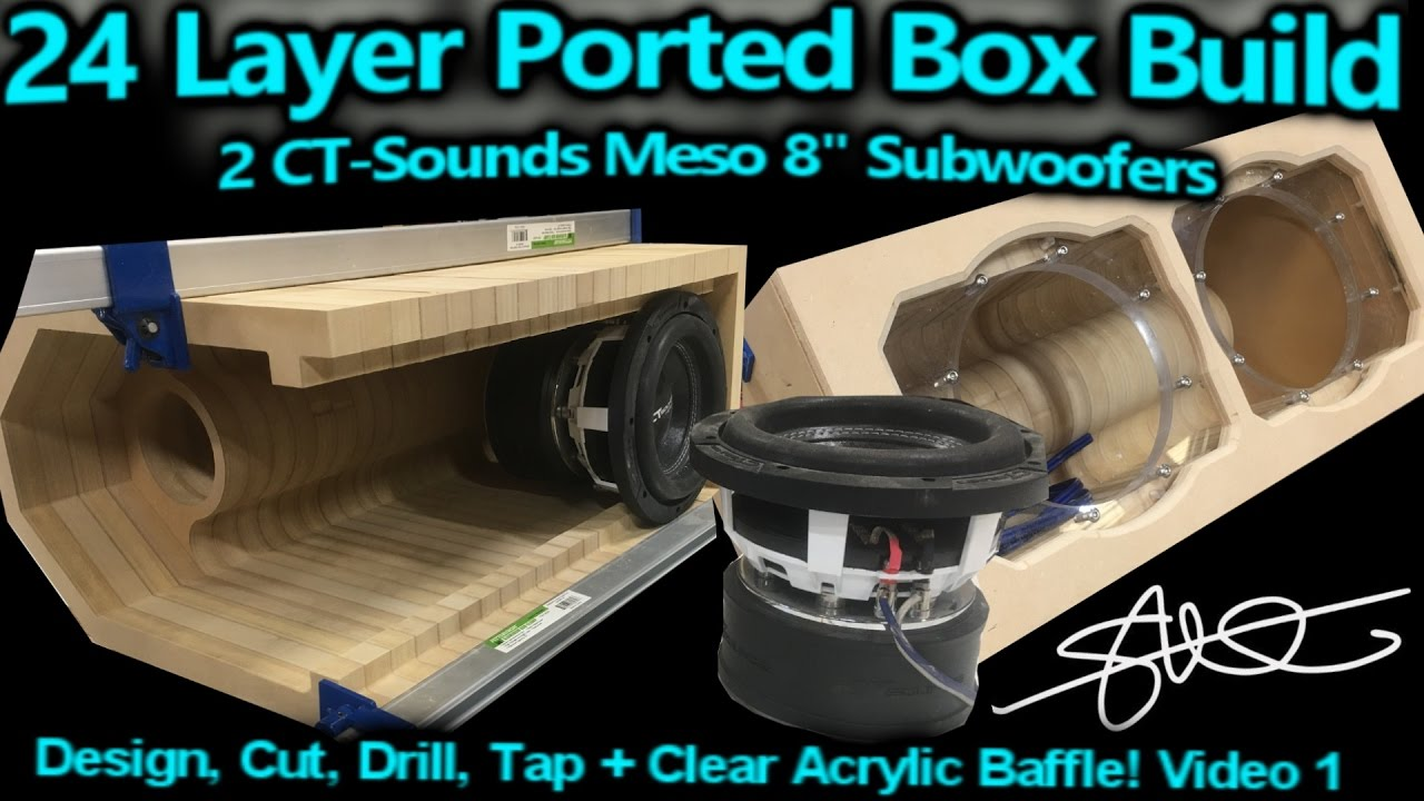 '24 Layer' Ported Speaker Box Build - 2 CT-Sounds 8' Meso Subwoofers - Video 1