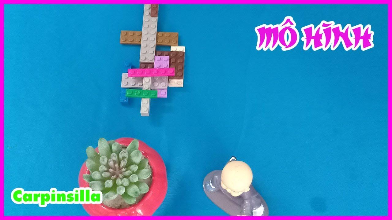 Mô hình đồ chơi lego khi lắp ráp thành bộ đám phát thanh nhỏ - hoanhatinh82