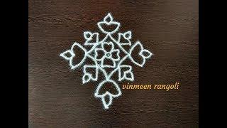 Video BEGINNERS RANGOLI KOLAM DESIGNS WITH DOTS/Kolam designs simple/Muggulu designs with dots/Rangoli art download MP3, 3GP, MP4, WEBM, AVI, FLV September 2018