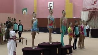 Парад награждения. Художественная гимнастика. Чемпионат Черниговской области октябрь 2016