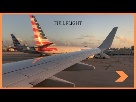 Full Flight American 737-800 Caracas to Miami