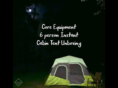 Core Equipment 6 Person Instant Cabin Tent Unboxing
