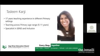 AKEB UK: Pre Primary and Primary Webinar  STEM Learning at Home - 26 April 2020