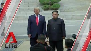 US President Donald Trump meets Kim Jong Un at DMZ, crosses into North Korean territory
