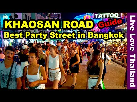 Khaosan Road Bangkok - The best party street in Thailand #livelovethailand