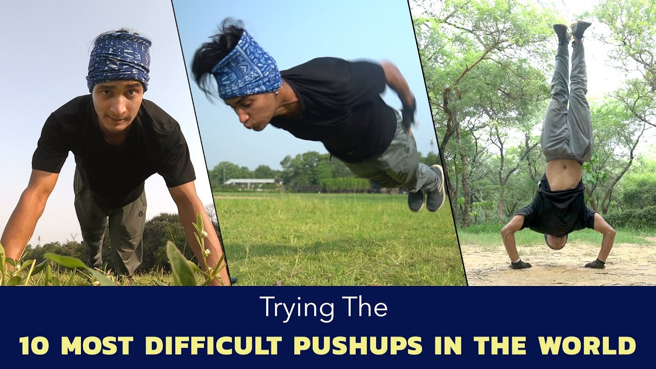 Trying The 10 Most Difficult Pushups In The World | Ok Tested