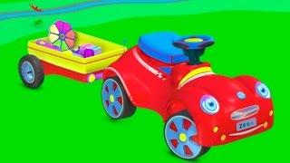 Развивающий 3Д мультфильм для малышей: Машинка строит детскую площадку