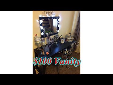 DIY Makeup Vanity/ $100 Budget