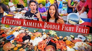 FILIPINO KAMAYAN BOODLE FIGHT FEAST | FOOD VLOG 🇵🇭👐🏾