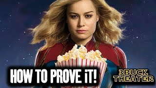 How to prove the CAPTAIN MARVEL EMPTY THEATER rumor!