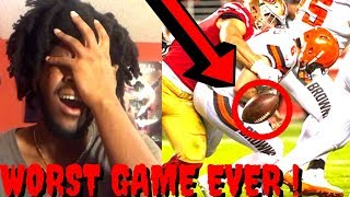 REACTION TO NFL 49ERS VS BROWNS WEEK 5 HIGHLIGHTS - WORST GAME OF THE SEASON !