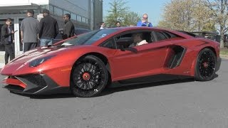 Lamborghini Aventador SV - 458 Italia - Huracan - 360 - Cars and Coffee Arrivals