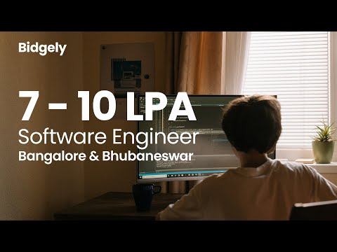 Bidgely Hiring for Software Engineer | 7 - 10 LPA , Work from Home option