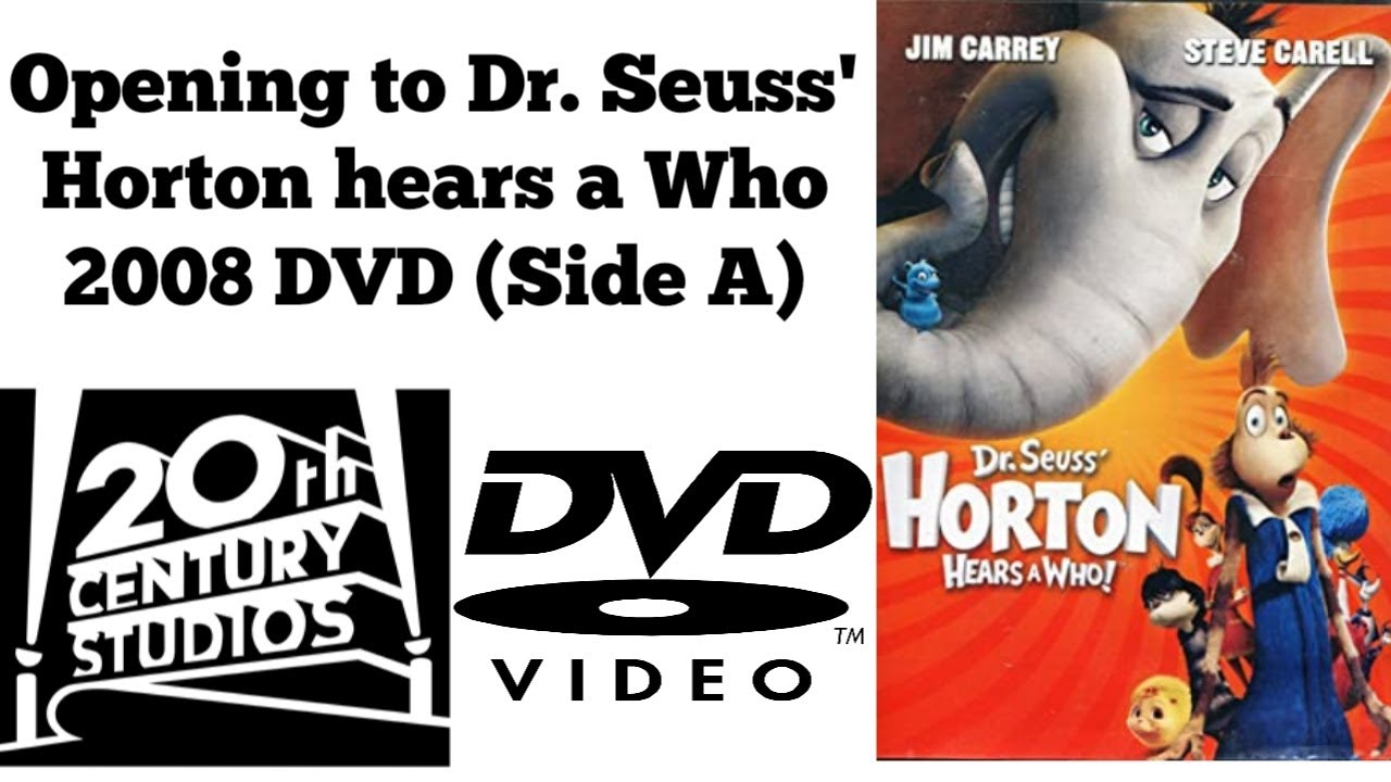 Download Opening to Dr. Seuss' Horton hears a Who 2008 DVD (Side A)