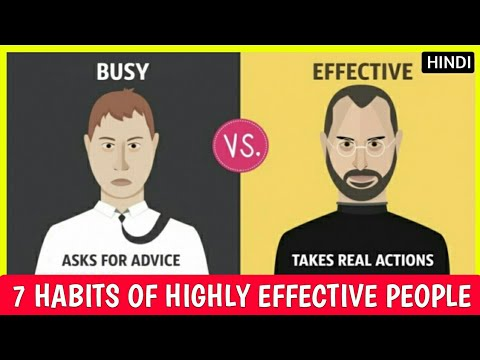 7 Habits of Highly Effective People Summary ➤ (In Hindi) - YouTube