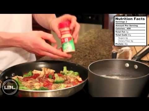Muscle Building Food Recipes : High Protein Chicken Tomato Pasta