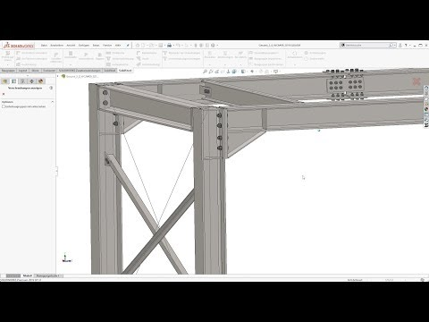 Structural Steel Design with SOLIDWORKS - SolidSteel parametric - Product Video v2.0 - English