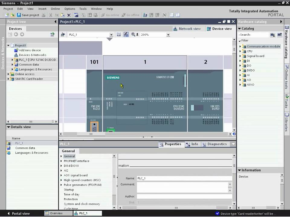 Siemens SIMATIC S71200 Part 1  Getting Started  YouTube