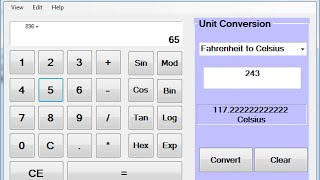 How to Create Scientific Calculator in Visual Basic.Net(Create Advance Calculator in Visual Basic.Net, using If Statement with Scientific Calculation and Unit Conversion., 2015-06-06T21:01:37.000Z)