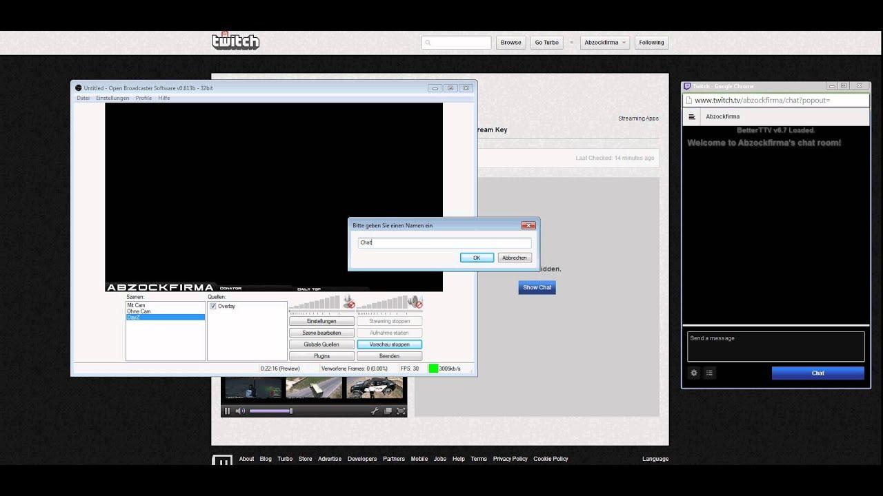 Chatroom Stream Deutsch
