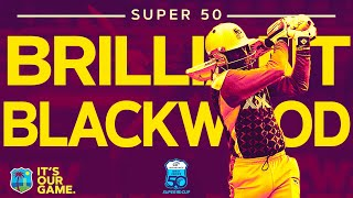 Brilliant Blackwood 100 for Jamaica! | Colonial Medical Insurance Super50 Cup