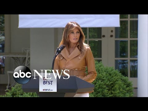 First lady Melania Trump unveils official policy platform: 'Be Best'