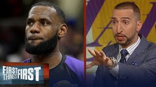 Cris and Nick argue whether Lakers should cut LeBron's minutes | NBA | FIRST THINGS FIRST