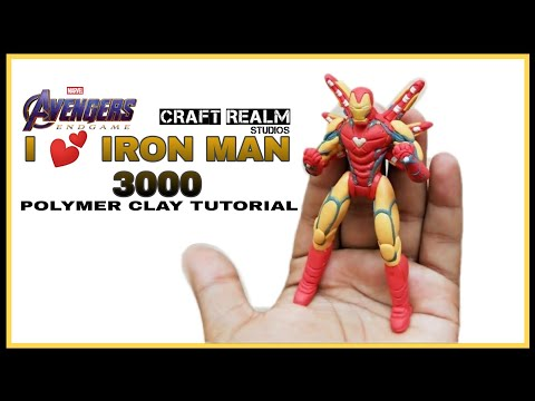 I AM IRONMAN !! | How To Sculpt Iron Man Mark 85 From Avengers Endgame Using Polymer Clay