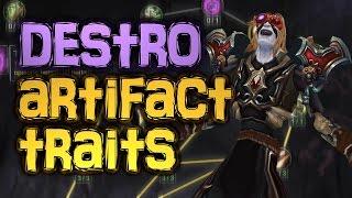 Destruction Warlock Artifact Weapon TRAITS! | WoW Legion [Cobrak]