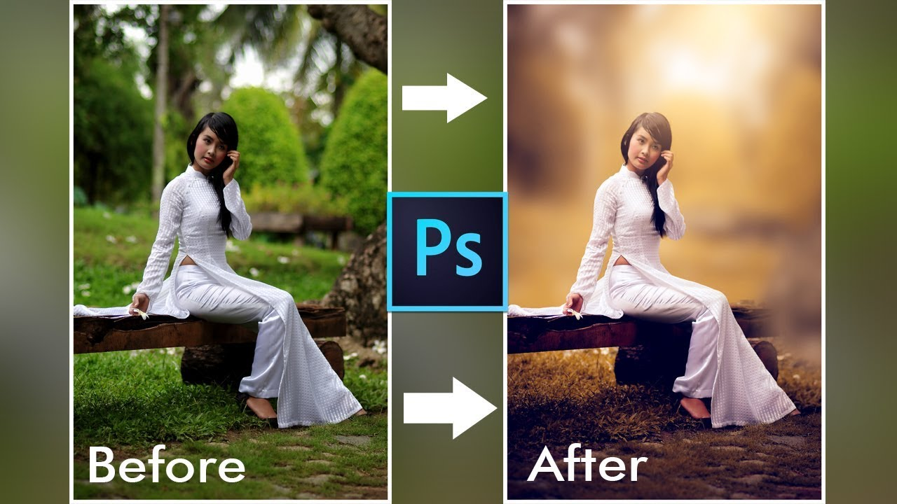 Photoshop Tutorial How To Edit Outdoor Portrait And Blur Background In Photoshop Youtube